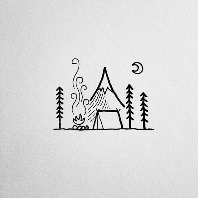 CAMPING AREA DRAWING