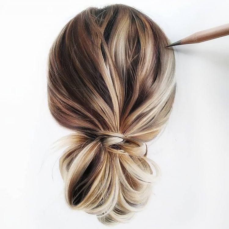 REALISTIC HAIR DRAWING