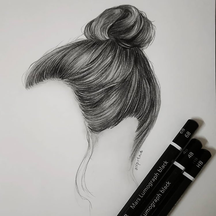TOP KNOT DRAWING