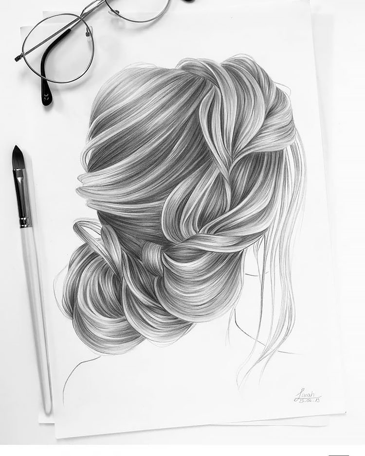 WEDDING HAIRSTYLE DRAWING