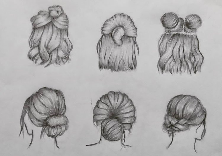 SIX HAIRSTYLES
