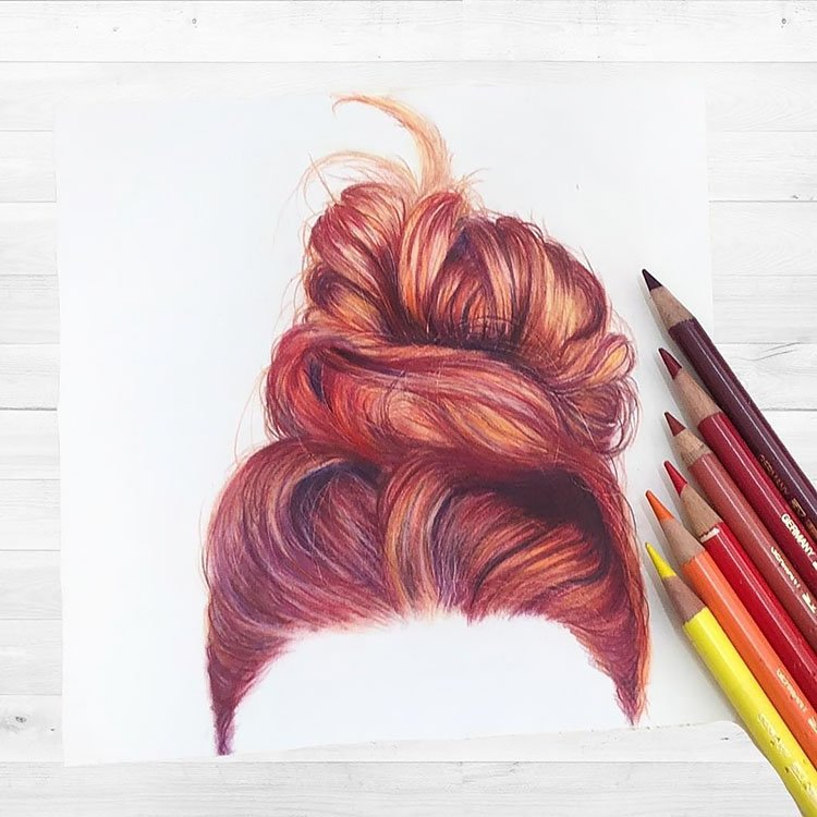 RED BUN HAIRSTYLE