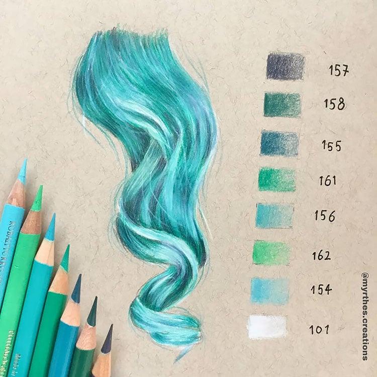 BLUE HAIR DRAWING