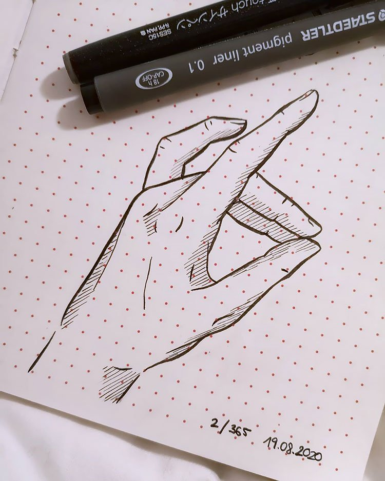 FINGERS TOUCHING DRAWING