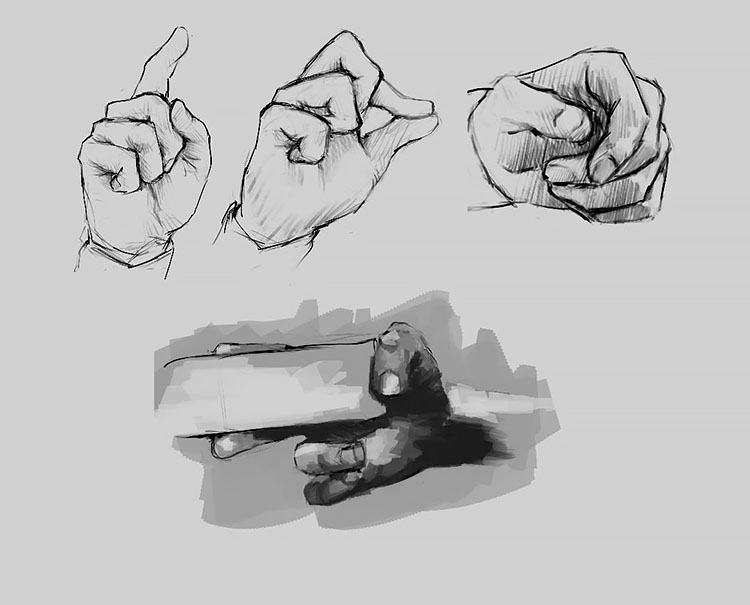 HAND MAKING DIFFERENT MOVEMENTS