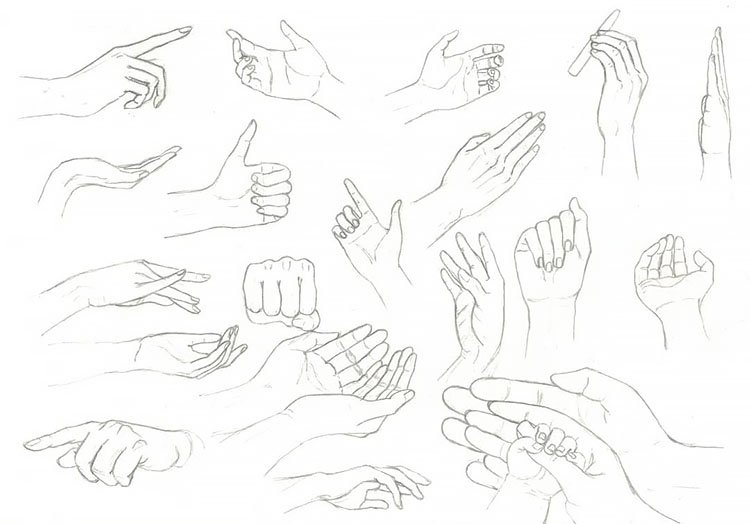 HAND EXPRESSIONS DRAWING