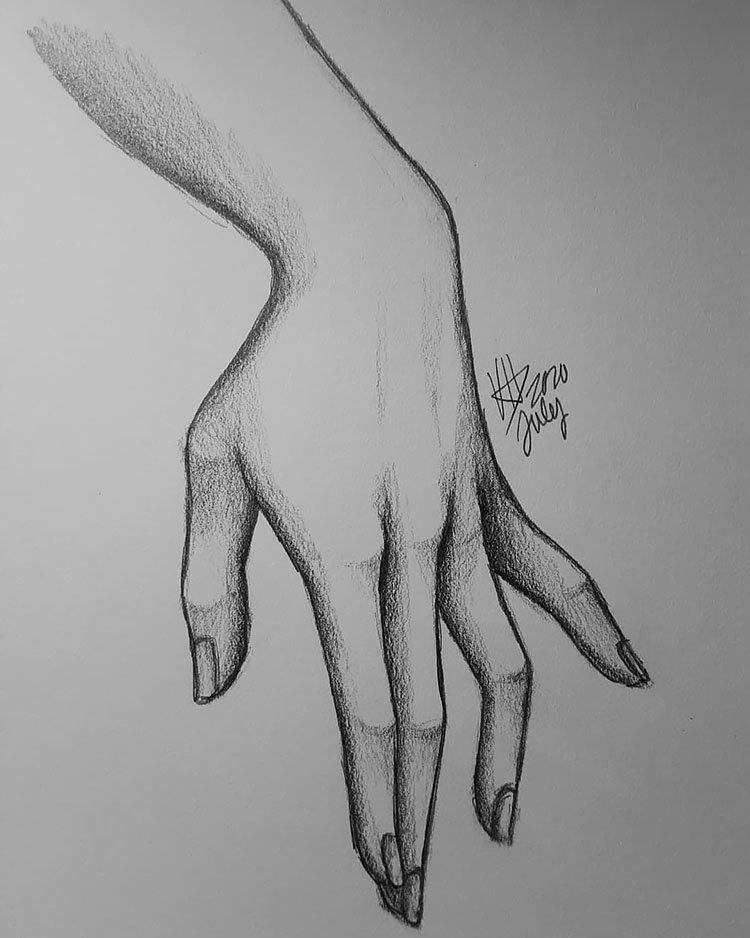 HAND HOLDING PINKY FINGER OUT