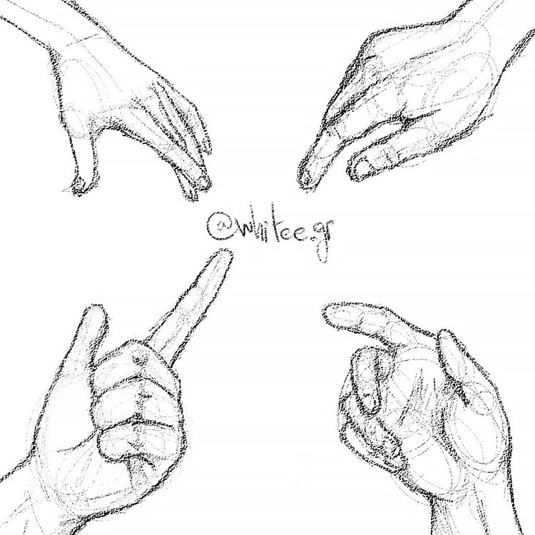 HAND POINTING DRAWING
