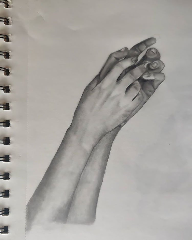 PRAYER HAND DRAWING
