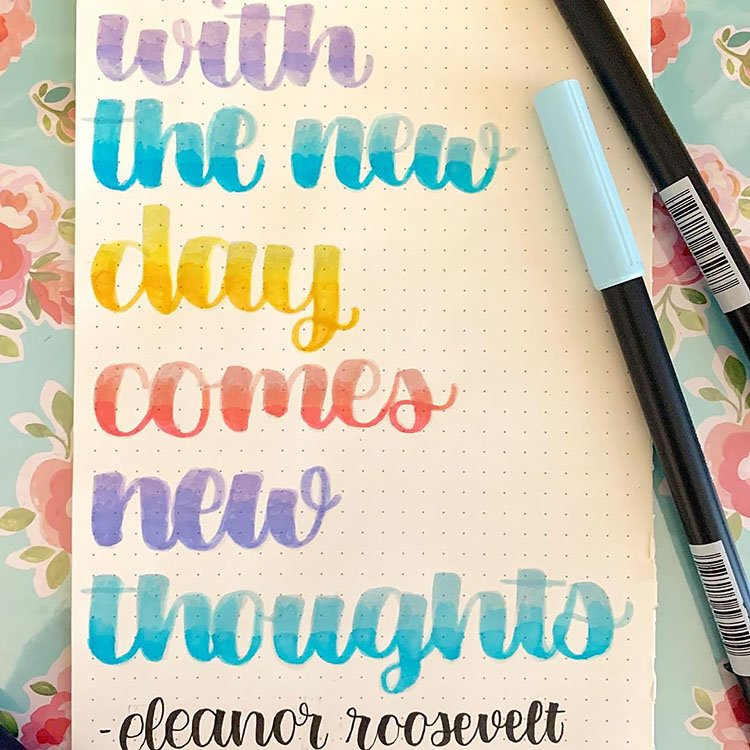 WITH THE NEW DAY COMES NEW THOUGHTS QUOTE