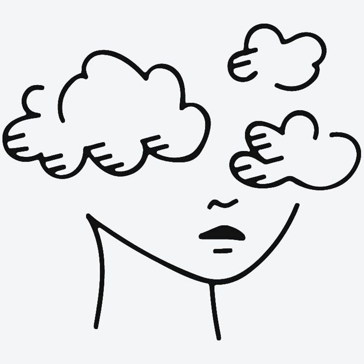 HEAD IN THE CLOUDS DRAWING