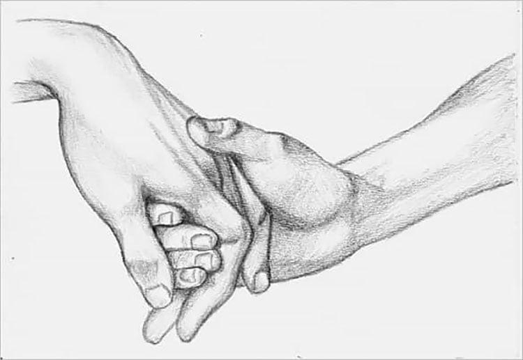 HANDS HOLDING SKETCH