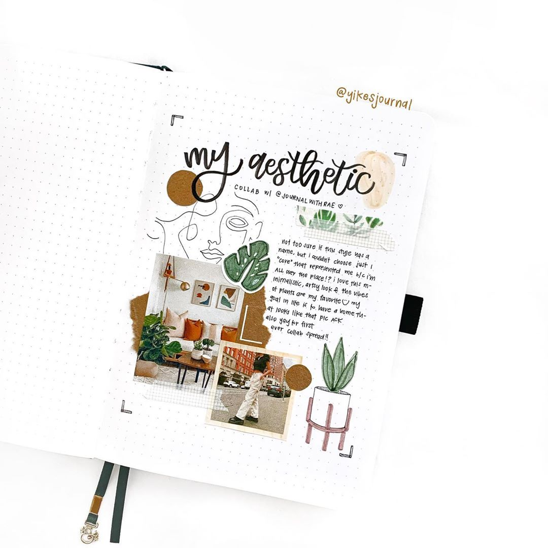 YOUR AESTHETIC BULLET JOURNAL SPREAD WITH PLANTS