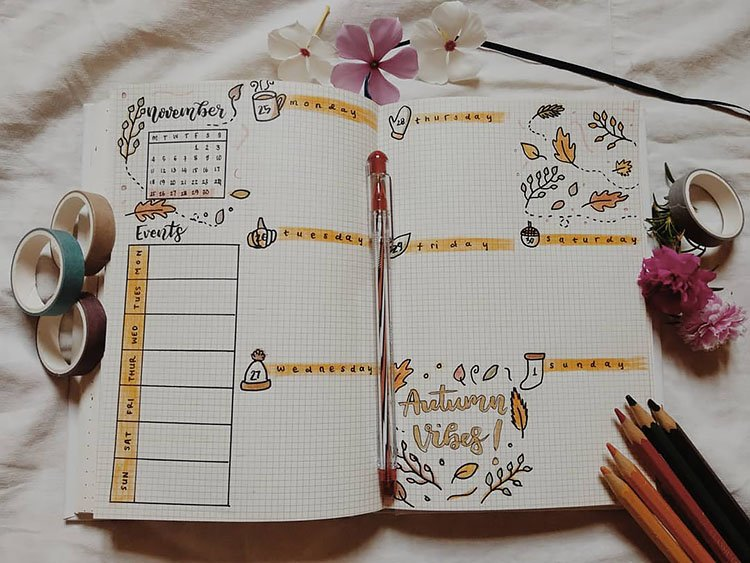 FALL WEEKLY PLANNER