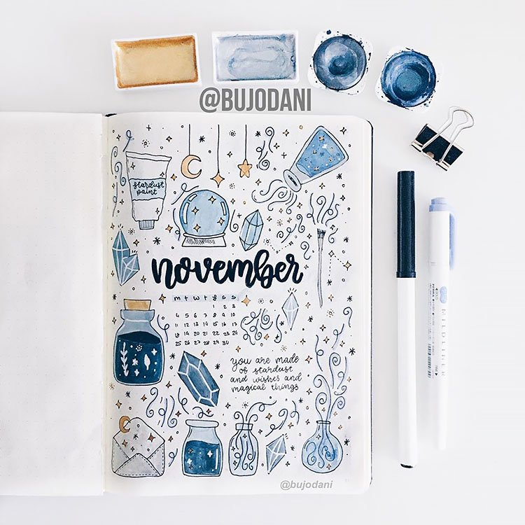 CRYSTALS AND POTIONS NOVEMBER COVER PAGE