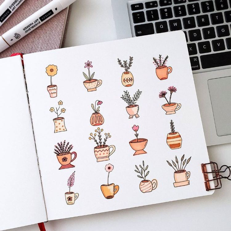Flower Drawings and Doodles