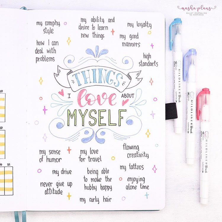 THINGS I LOVE ABOUT MYSELF