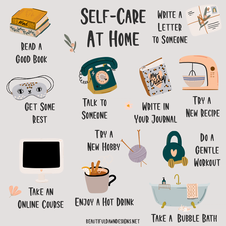 SELF CARE AT HOME DOODLES