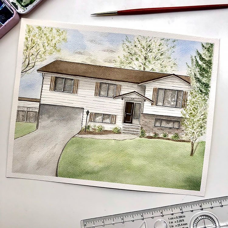60S OR 70S STYLE HOUSE PAINTING