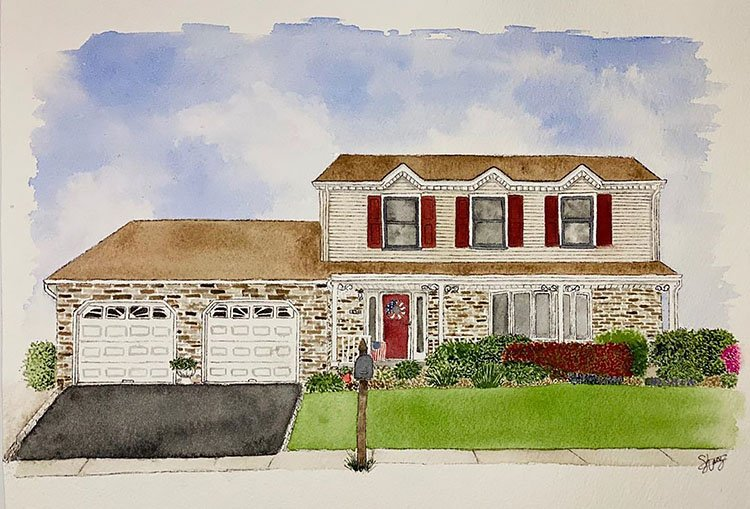 TWO CAR GARAGE HOME PAINTING