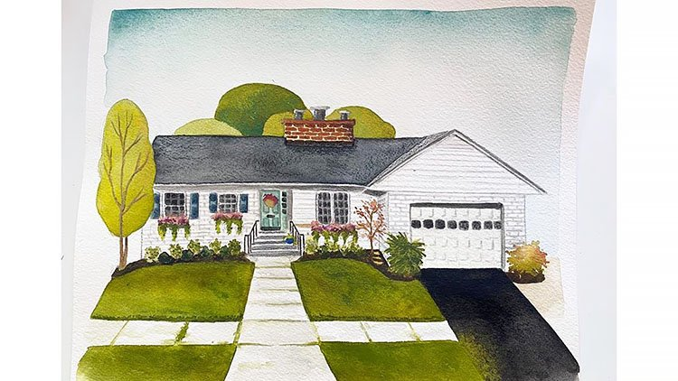 AMERICAN STYLE WATERCOLOR HOME