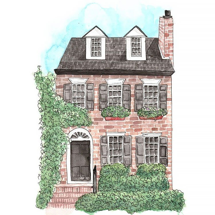 THREE STORY LONDON HOME PAINTING