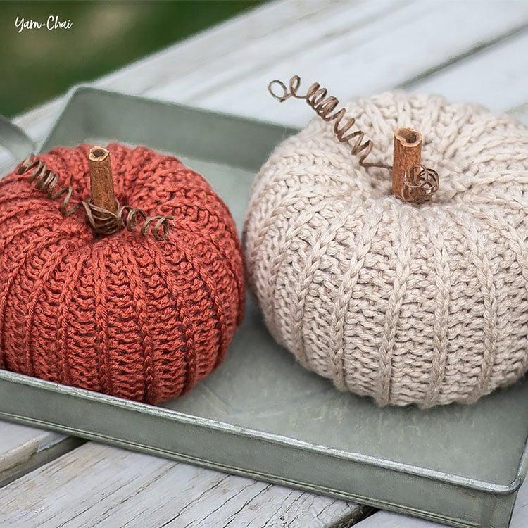 rustic pumpkins crochet