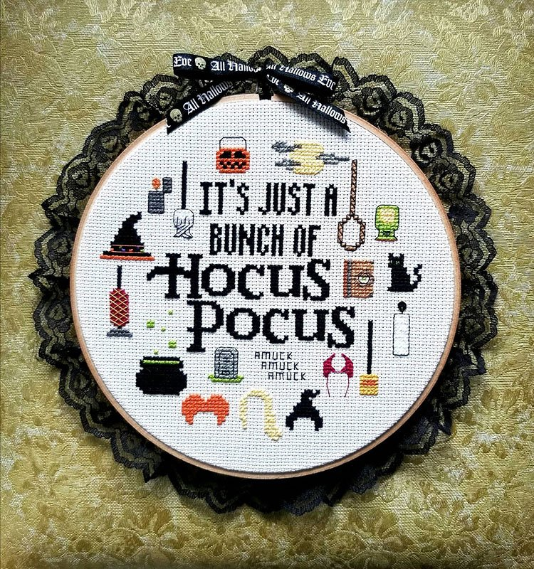 IT'S JUST A BUNCH OF HOCUS POCUS CROSS STITCH PATTERN