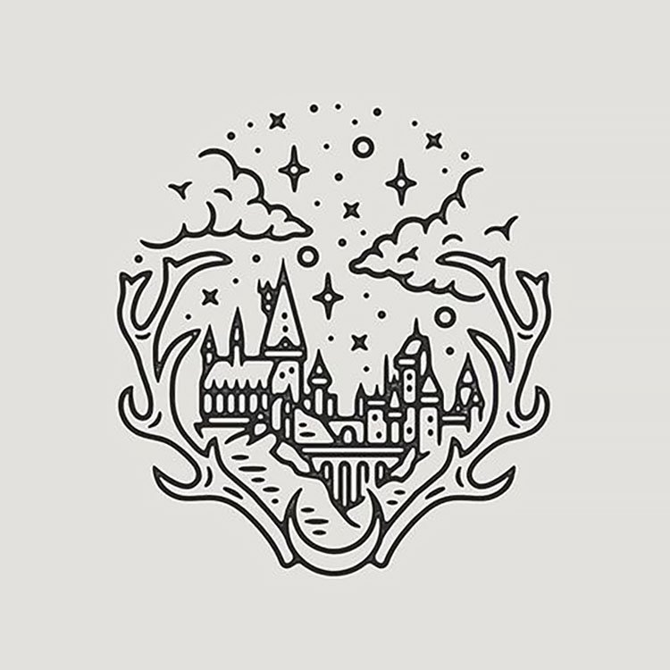 HOGWARTS CASTLE SMALL DRAWING