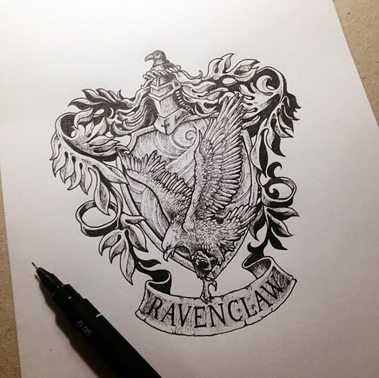 RAVENCLAW CREST DRAWING