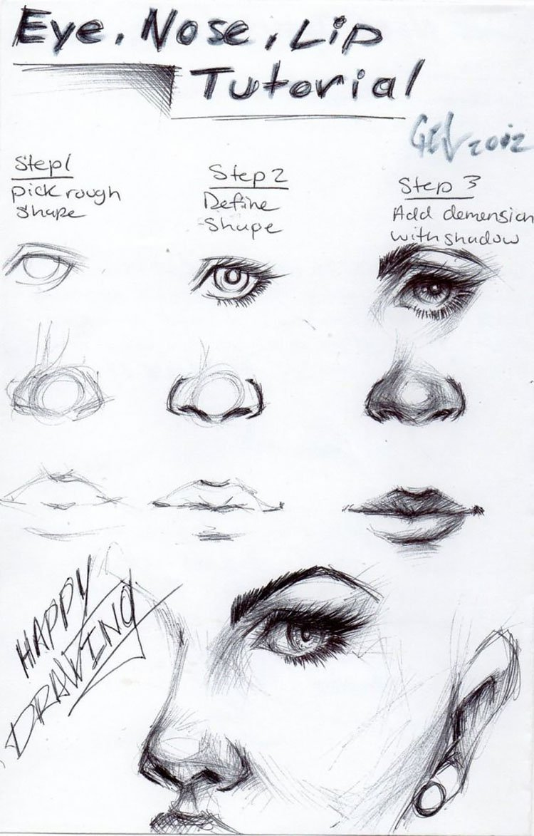 NOSE LIP AND EYE TUTORIAL