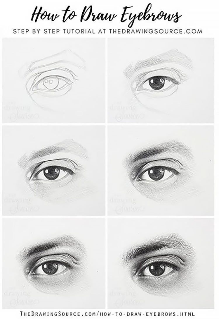 HOW TO DRAW EYEBROWS TUTORIAL