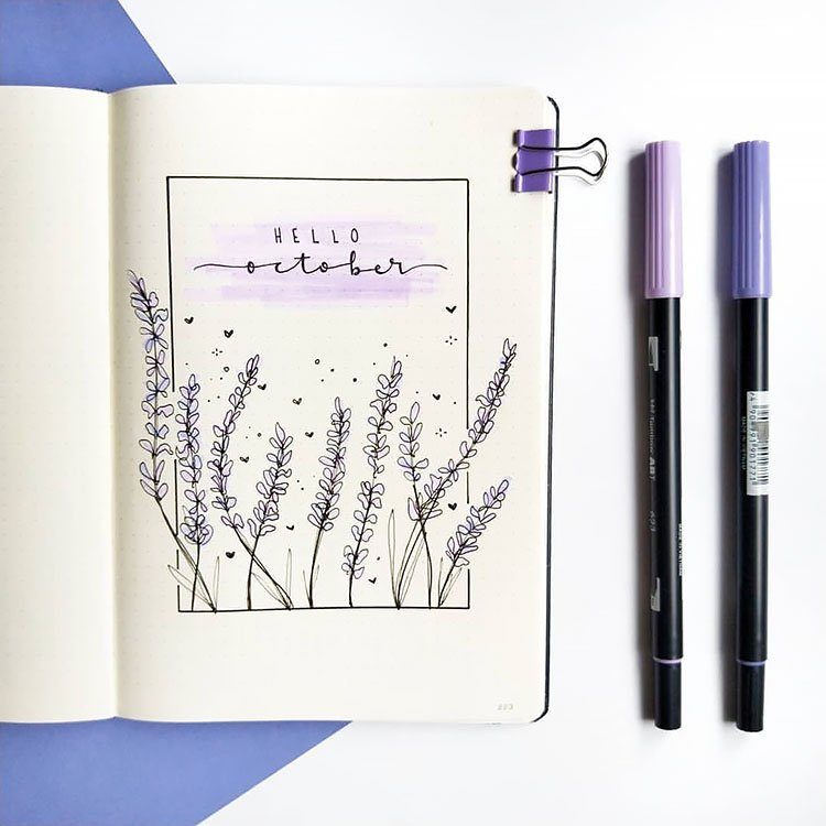 HELLO OCTOBER WITH LAVENDER