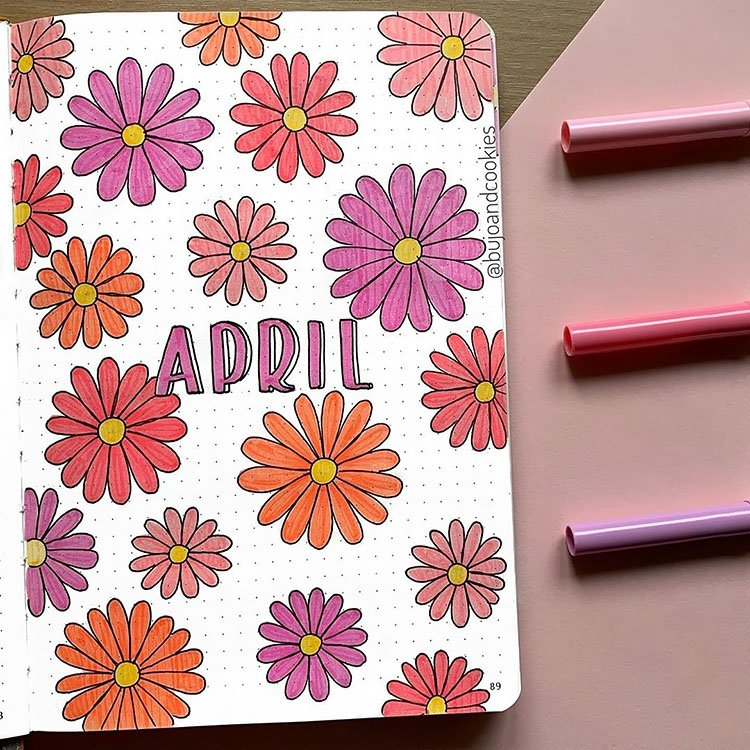 APRIL FLOWERS COVER PAGE