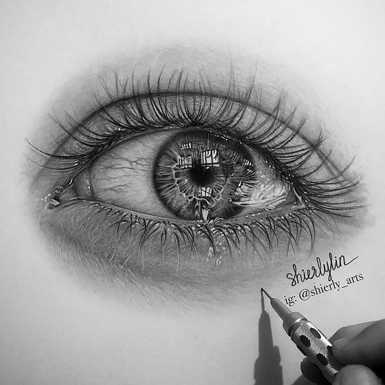 realistic eyes drawing