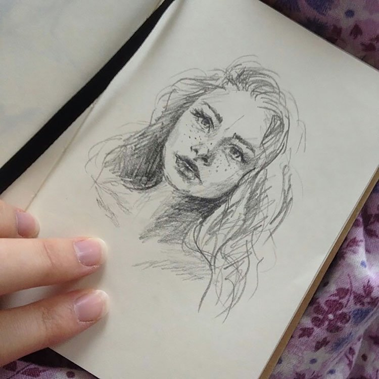 quick girl sketch
