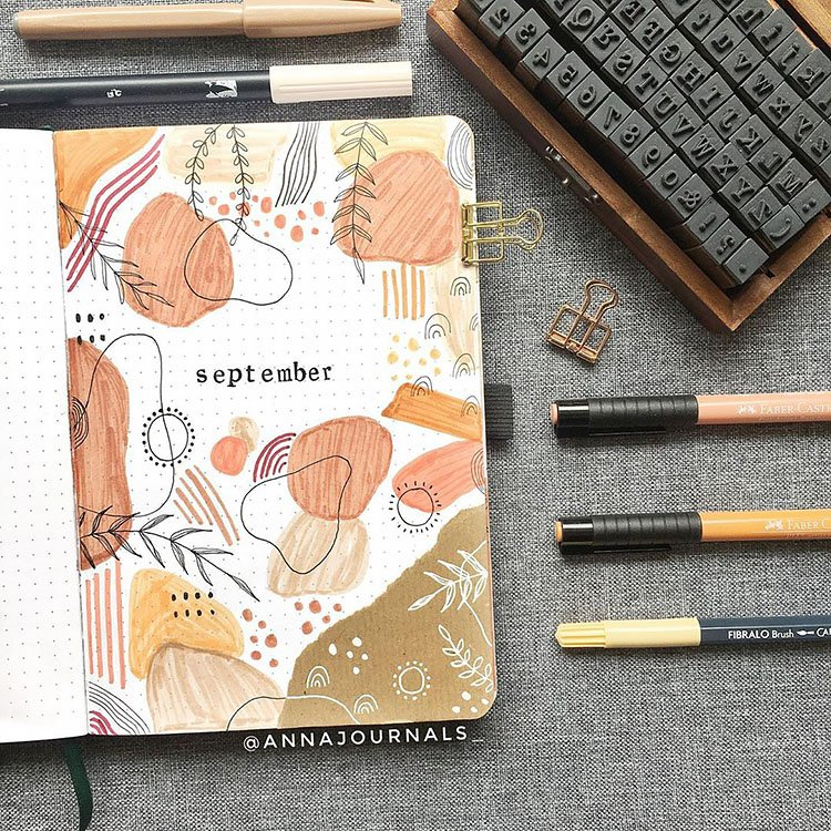 45 Monthly Bullet Journal Cover Page Ideas - Beautiful Dawn Designs