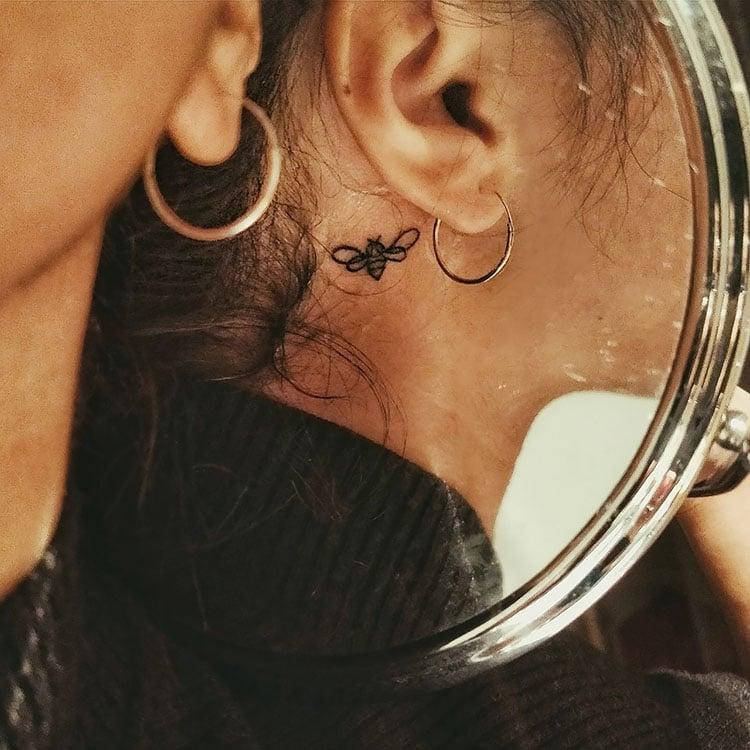 bee hehind ear