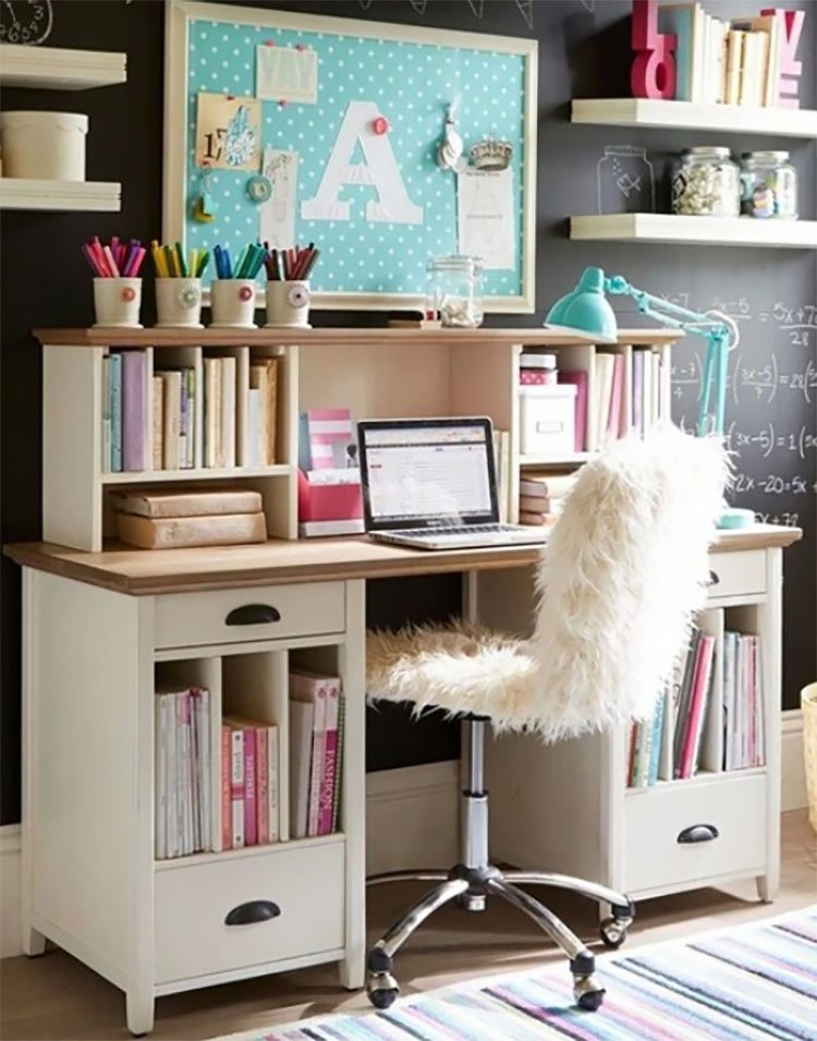 office with fluffy chair