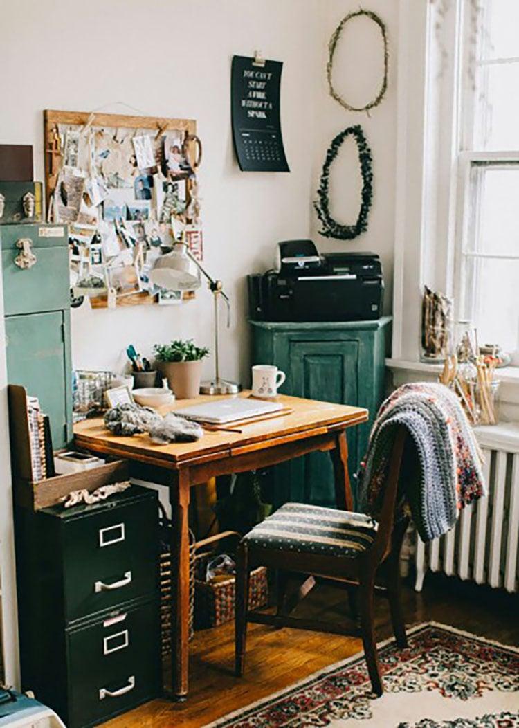 corner office in kitchen