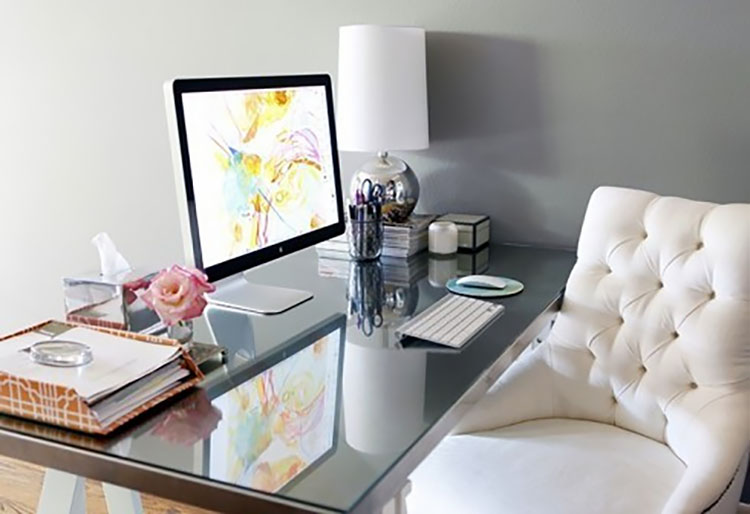 desk with comfortable chair