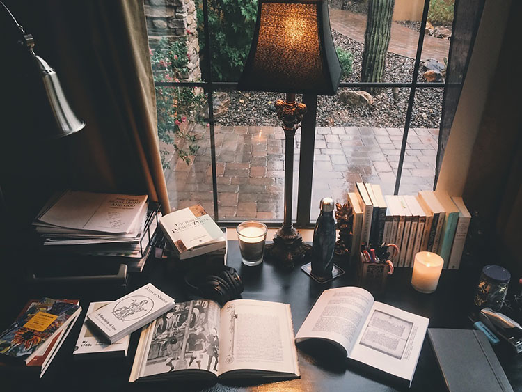 office on a rainy day