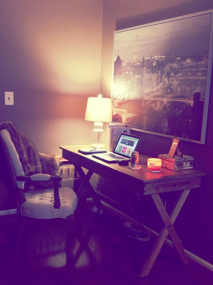 office in bedroom with desk