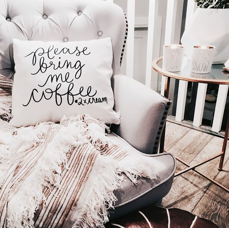 please bring me coffee pillow