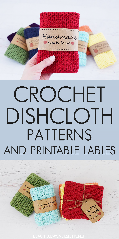 DISHCLOTH AND PRINTABLE LABEL