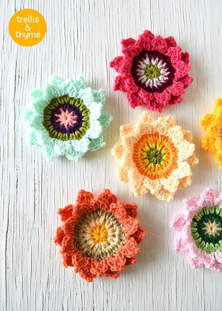 CANDY BLOSSOM CROCHET FLOWER