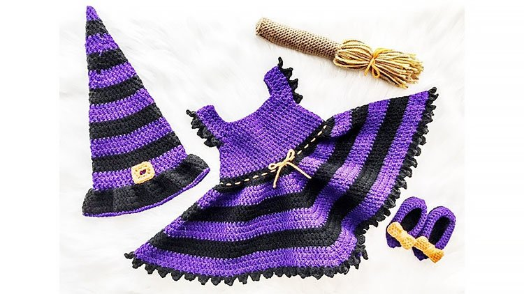 BABY WITCH HALLOWEEN COSTUME