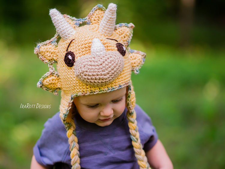 TOPS THE TRICERATOPS DINOSAUR HAT