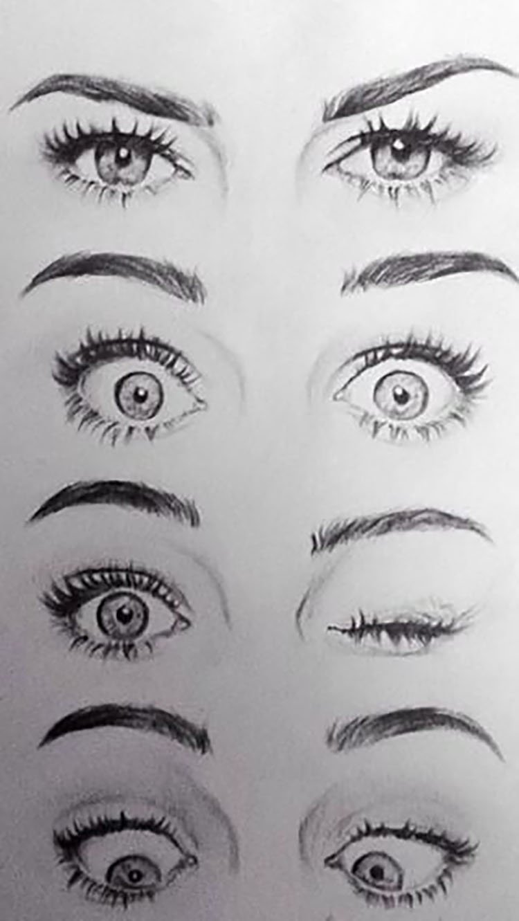 EYE EXPRESSIONS WITH WINKING EYE