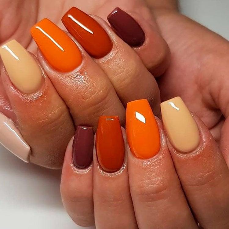 fall colors nails